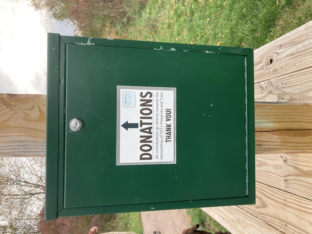 Donation Box at Preserve trailhead