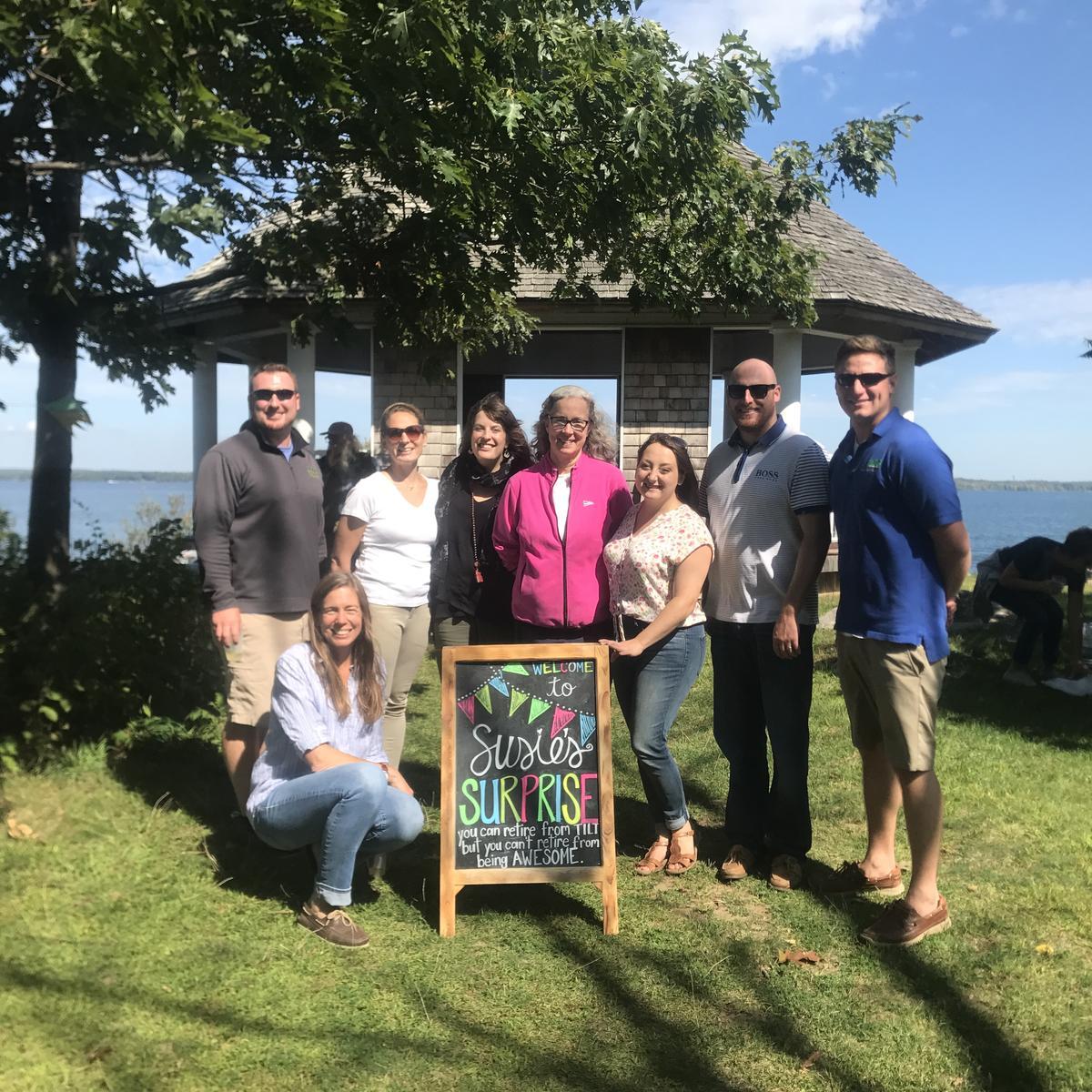 TILT Staff at Susie's surprise retirement party at Picnic Point