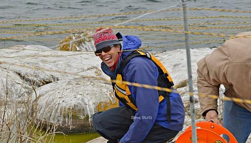 Kate Breheny on Tidd Island