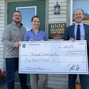Pictured: (l-r) Jake Tibbles, Executive Director, Terra Bach, Director of Development and Communications, and John Nuber, Senior Financial Associate, RBC Wealth Management.