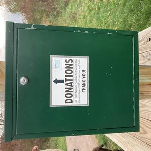 Donation Box at Preserve trailhead